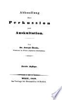 Abhandlung   ber Perkussion und Auskultation