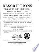 Descriptions des arts et m  tiers  707   1 bl   p    34  f  de pl