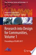 Research into Design for Communities  Volume 1