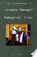 Literarische Philosophie, philosophische Literatur
