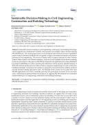 Sustainable Decision Making In Civil Engineering Construction And Building Technology