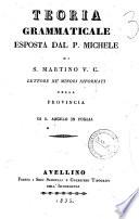 Teoria grammaticale esposta da Michele di S  Martino