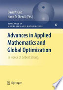 Advances In Applied Mathematics And Global Optimization book