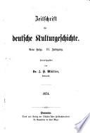 Zeitschrift für deutsche Kulturgeschichte