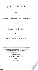 Hermes; oder kritisches Jahrbuch der Literatur