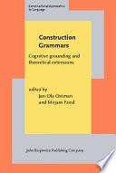 Construction Grammars