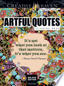 Creative Haven Deluxe Edition Artful Quotes Coloring Book