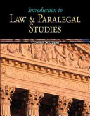 Introduction to Law   Paralegal Studies
