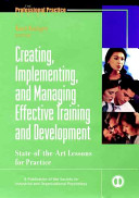 Creating  Implementing  and Managing Effective Training and Development