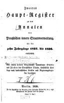 Annalen der preussischen innern Staatsverwaltung