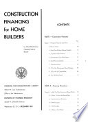 Construction Financing For Home Builders
