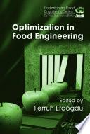 Optimization in Food Engineering
