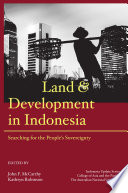 Land And Development In Indonesia book