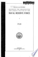 Regulations Governing the Organization and Administration of the Naval Reserve Force