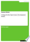 Critique for the Open Source Development Model