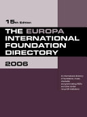 The Europa International Foundation Directory 2006
