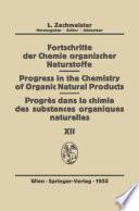 Fortschritte Der Chemie Organischer Naturstoffe Progress In The Chemistry Of Organic Natural Products Progres Dans La Chimie Des Substances Organiques Naturell Es book