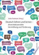 Deutsch Lehren Und Lernen Diversit Tssensible Vermittlung Und F Rderung