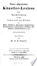 Neues allgemeines Künstler-Lexicon