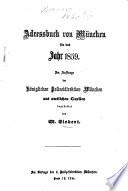 Adreßbuch für München