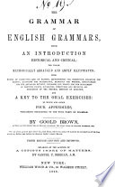The Grammar Of English Grammars With An Introduction Historical And Critical