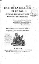 Book L'Ami de la religion et du roi
