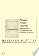 Akteure - Praxen - Theorien