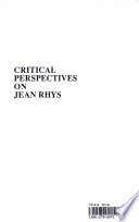 Critical Perspectives on Jean Rhys