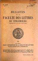 Bulletin de la Faculté des Lettres de Strasbourg