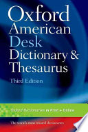 Oxford American Desk Dictionary   Thesaurus