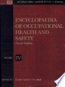 Encyclopaedia of Occupational Health and Safety  Guides  indexes  directory