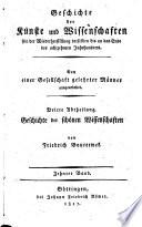 Geschichte der Poesie und Beredsamkeit seit dem Ende des dreizehnten Jahrhunderts  Germany