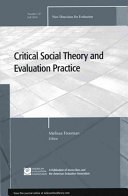 Critical Social Theory and Evaluation Practice