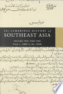 The Cambridge History of Southeast Asia The Establishment Of The Colonial