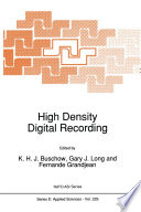 High Density Digital Recording