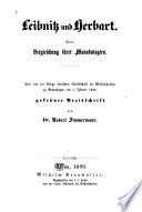 Leibnitz und Herbart