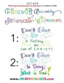 2017 2018 Jehovah S Witnesses Circuit Assembly Program Notebook For Kids For Both Circuit Assemblies Don T Give Up In Fulfilling The Law Of Christ D