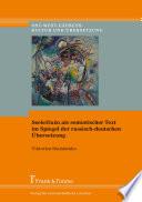 Seele/Duša als semiotischer Text im Spiegel der russisch-deutschen Übersetzung