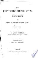 Die Deutschen mundarten
