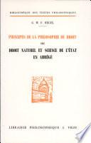 illustration Principes de la philosophie du droit ou Droit naturel et science de l'état en