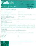 Bulletin of the British Psychological Society Book PDF