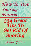 How to Stop Snoring Forever