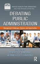 Debating Public Administration