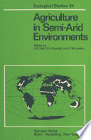 Agriculture In Semi Arid Environments book
