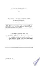 PARLIAMENTARY PAPERS, 1850; NUMERICAL LIST AND GENERAL INDEX