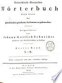 Griechisch deutsches W  rterbuch beym Lesen der griechischen profanen Scribenten zu gebrauchen