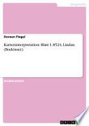 Karteninterpretation: Blatt L 8524, Lindau (Bodensee)