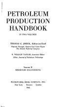 Petroleum Production Handbook: Reservoir engineering