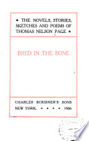The Novels  Stories  Sketches  and Poems of Thomas Nelson Page