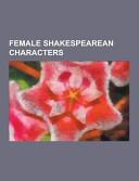 Female Shakespearean Characters